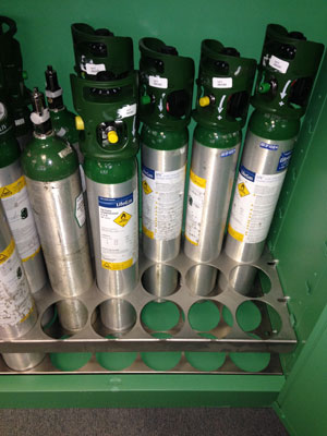 These lockable storage cabinets limit access to authorized personnel protecting cylinders from theft damage or t&ering. The heavy-gauge double-walled ... : oxygen tank storage rack  - Aquiesqueretaro.Com